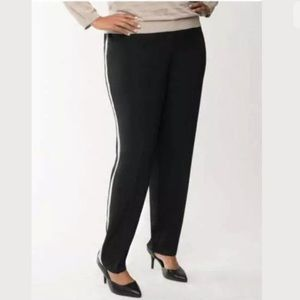 Side Stripe Athletic Inspired Silky Pants 22/24 3X
